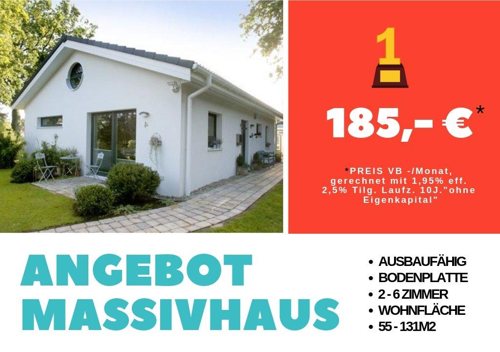 Massivhaus 15° Bungalow